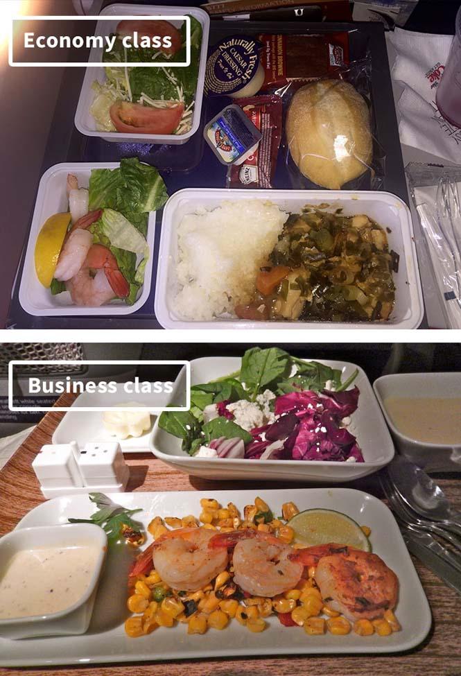 Φαγητό αεροπορικών εταιρειών: Οικονομική vs Πρώτη θέση (18)