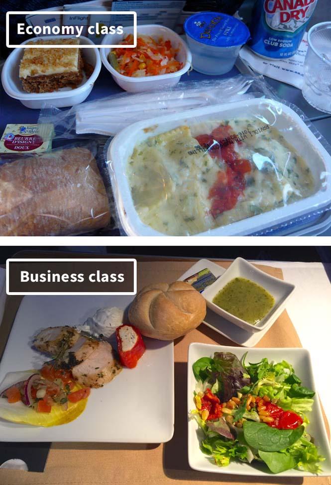 Φαγητό αεροπορικών εταιρειών: Οικονομική vs Πρώτη θέση (19)