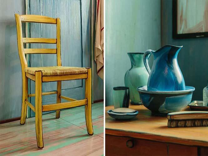 Καλλιτέχνες διαμόρφωσαν ένα υπνοδωμάτιο σαν τον διάσημο πίνακα του Van Gogh (3)