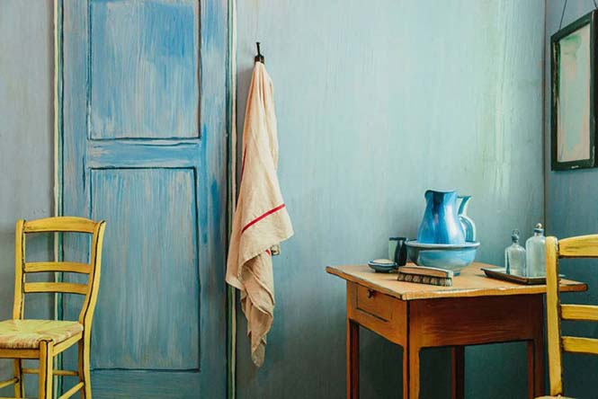Καλλιτέχνες διαμόρφωσαν ένα υπνοδωμάτιο σαν τον διάσημο πίνακα του Van Gogh (5)