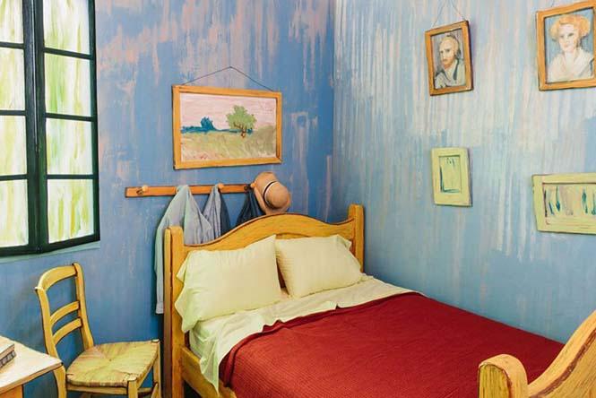 Καλλιτέχνες διαμόρφωσαν ένα υπνοδωμάτιο σαν τον διάσημο πίνακα του Van Gogh (6)