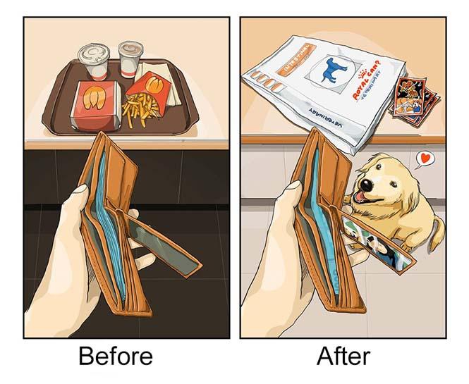Η καθημερινότητα πριν και μετά την απόκτηση σκύλου (3)