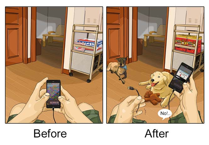 Η καθημερινότητα πριν και μετά την απόκτηση σκύλου (9)