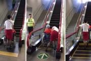 Κυλιόμενη σκάλα με ειδική λειτουργία για άτομα σε αναπηρικό αμαξίδιο
