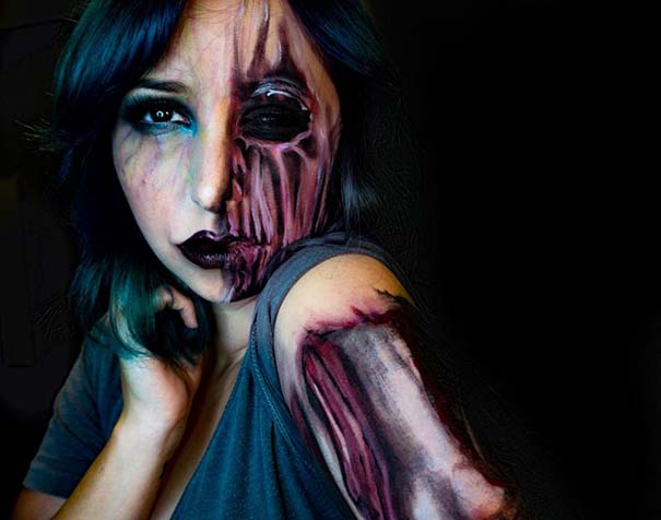 Makeup artist με απίστευτη φαντασία μετατρέπει τον εαυτό της σε τρομακτικά τέρατα (8)