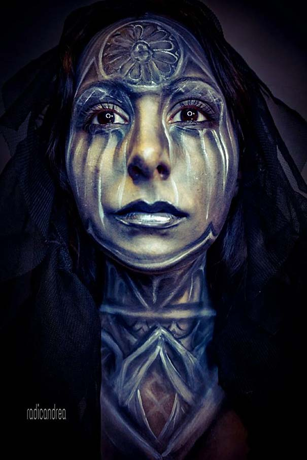 Makeup artist με απίστευτη φαντασία μετατρέπει τον εαυτό της σε τρομακτικά τέρατα (10)
