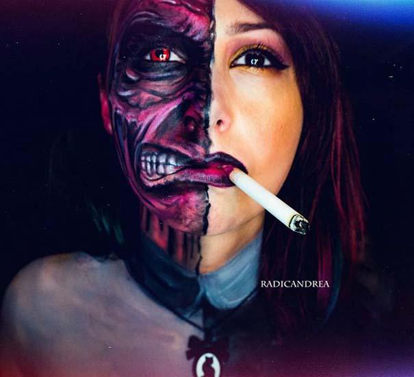 Makeup artist με απίστευτη φαντασία μετατρέπει τον εαυτό της σε τρομακτικά τέρατα (12)