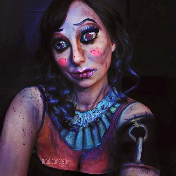 Makeup artist με απίστευτη φαντασία μετατρέπει τον εαυτό της σε τρομακτικά τέρατα (27)