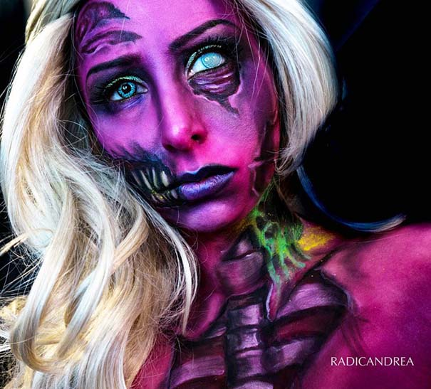 Makeup artist με απίστευτη φαντασία μετατρέπει τον εαυτό της σε τρομακτικά τέρατα (28)