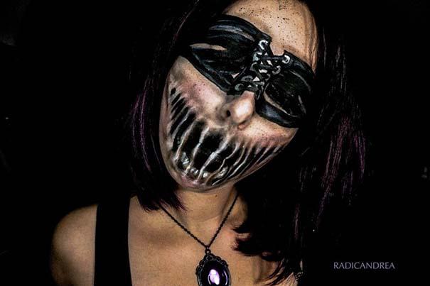 Makeup artist με απίστευτη φαντασία μετατρέπει τον εαυτό της σε τρομακτικά τέρατα (31)