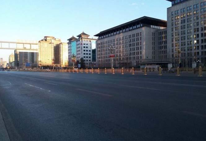 Το Πεκίνο αυτές τις μέρες μοιάζει με πόλη φάντασμα (2)