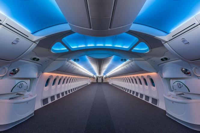 Το εσωτερικό ενός κενού Boeing 787 Dreamliner | Φωτογραφία της ημέρας
