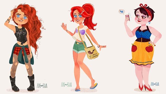 Οι πριγκίπισσες της Disney ως μοντέρνα κορίτσια του 21ου αιώνα