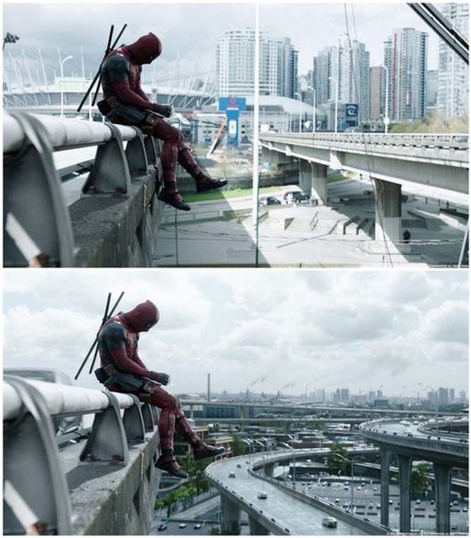 Πριν και μετά τα ειδικά εφέ του «Deadpool» (1)