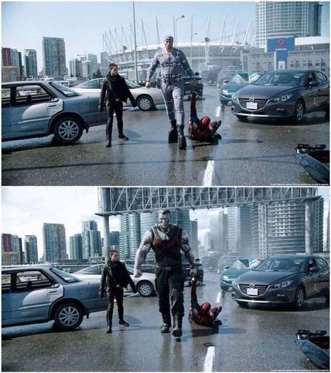 Πριν και μετά τα ειδικά εφέ του «Deadpool» (2)