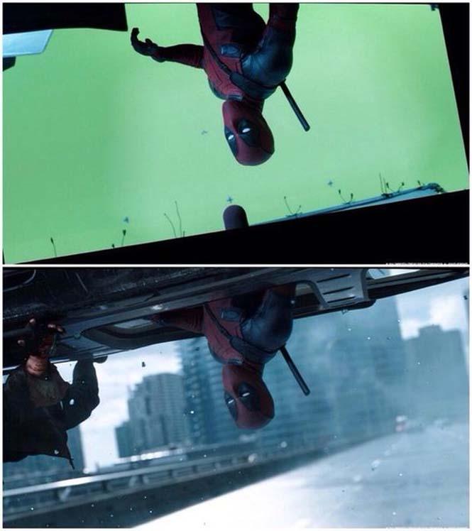 Πριν και μετά τα ειδικά εφέ του «Deadpool» (3)