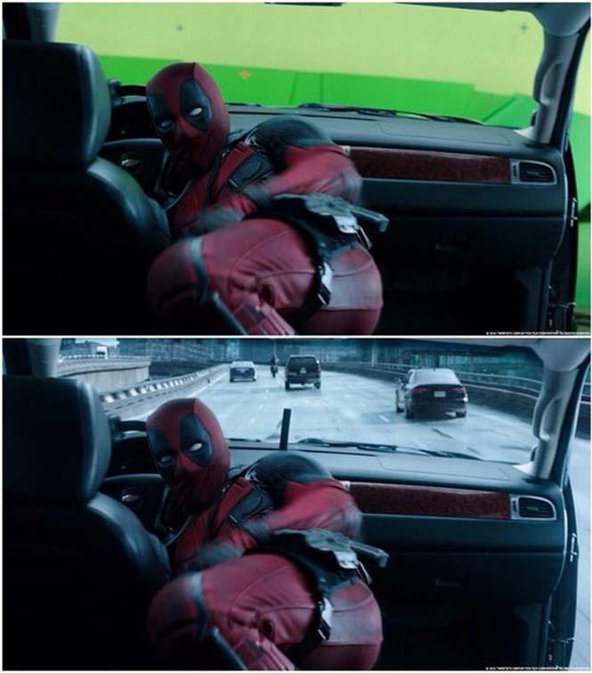 Πριν και μετά τα ειδικά εφέ του «Deadpool» (4)