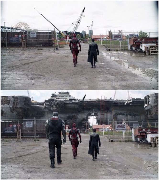 Πριν και μετά τα ειδικά εφέ του «Deadpool» (9)