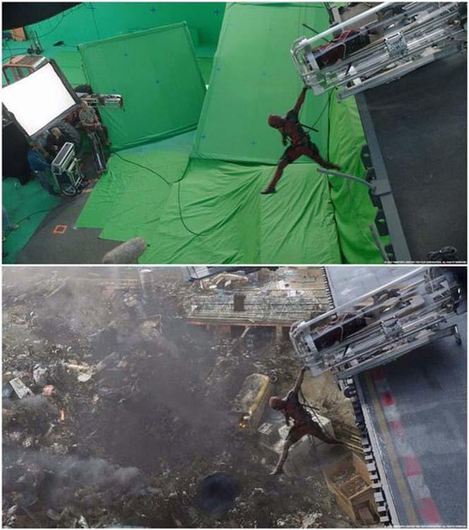 Πριν και μετά τα ειδικά εφέ του «Deadpool» (10)