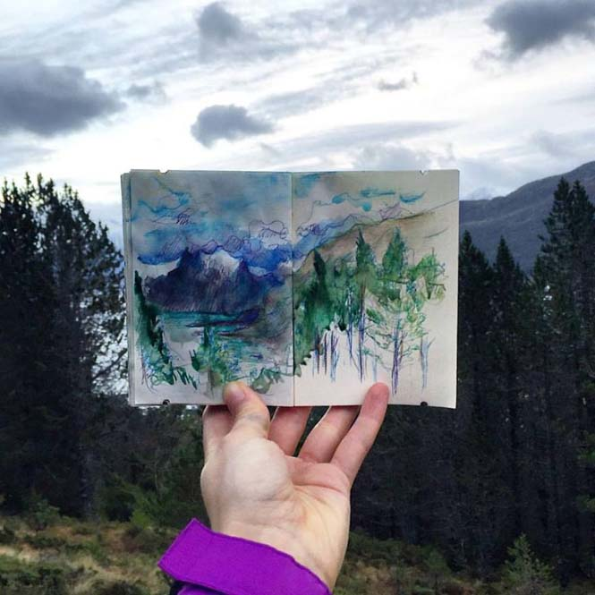 Συμπληρώνοντας τοπία με δημιουργικά σκίτσα (14)