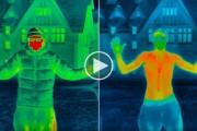 Θερμική κάμερα δείχνει πόσο γρήγορα πέφτει η θερμοκρασία του σώματος μας σε συνθήκες ψύχους