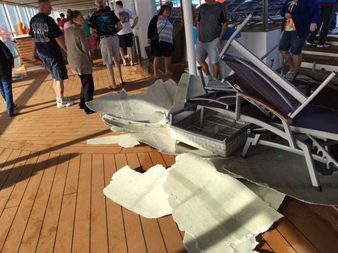 Ζημιές σε κρουαζιερόπλοιο μετά από σφοδρή θαλασσοταραχή (8)