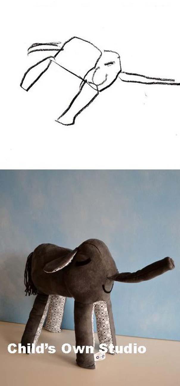 Αν οι παιδικές ζωγραφιές μετατρέπονταν σε παιχνίδια #6 (15)