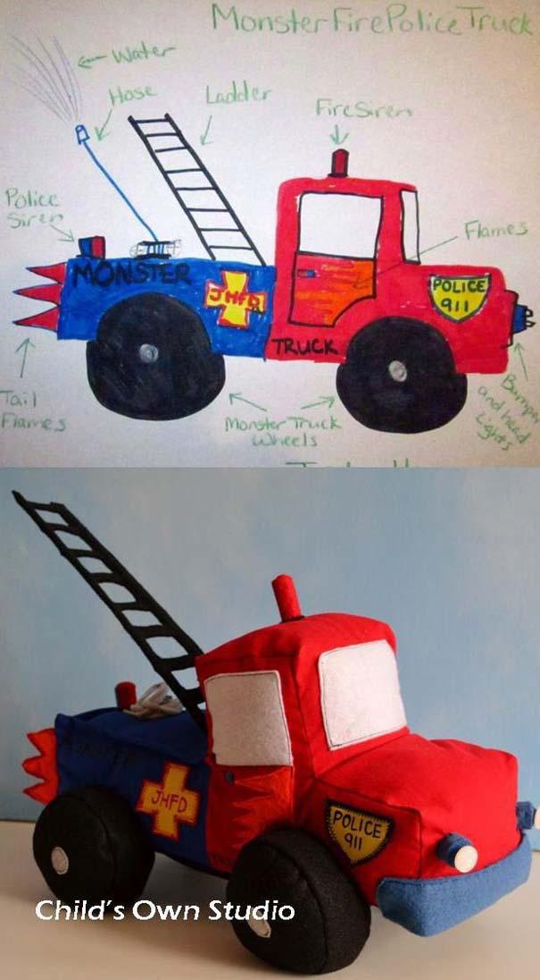 Αν οι παιδικές ζωγραφιές μετατρέπονταν σε παιχνίδια #6 (17)