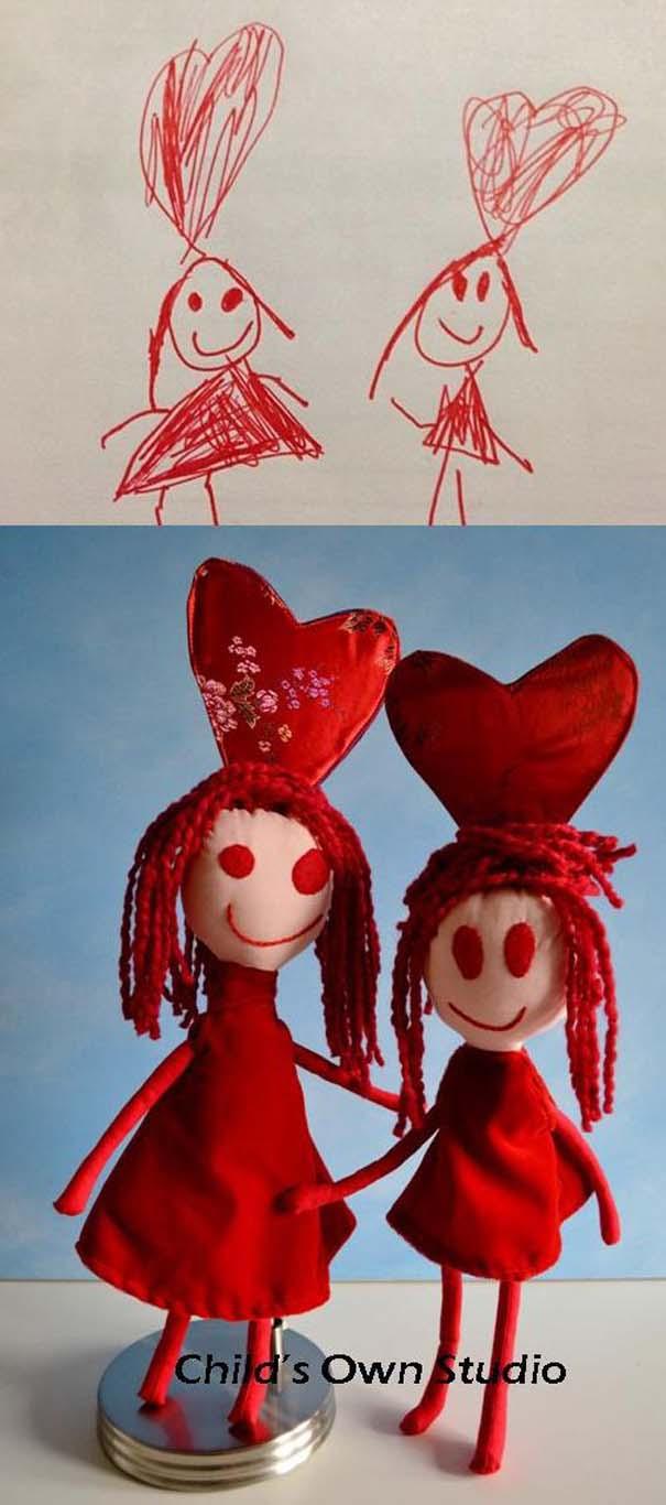 Αν οι παιδικές ζωγραφιές μετατρέπονταν σε παιχνίδια #6 (18)