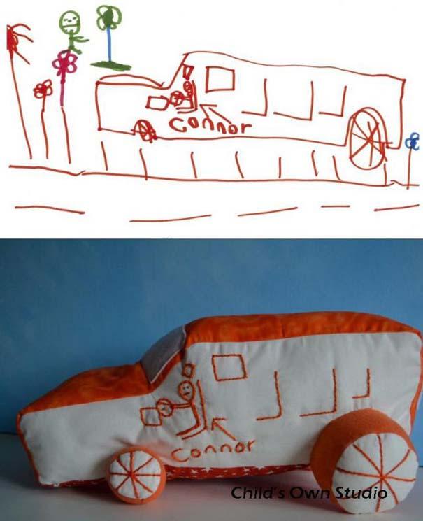 Αν οι παιδικές ζωγραφιές μετατρέπονταν σε παιχνίδια #6 (19)