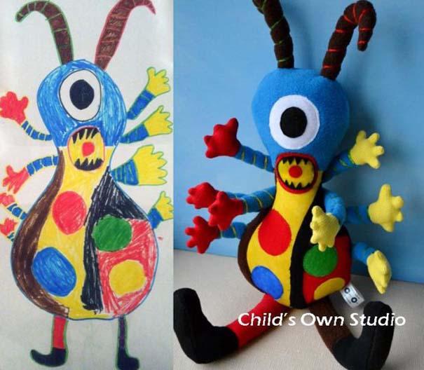 Αν οι παιδικές ζωγραφιές μετατρέπονταν σε παιχνίδια #6 (12)