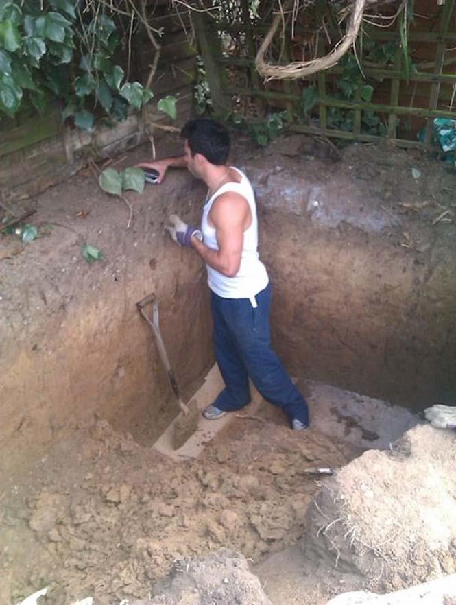 Είναι απίστευτο το τι έφτιαξε αυτός ο άνδρας στην αυλή του (3)