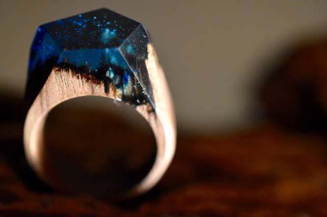 Εκπληκτικό ξύλινο δαχτυλίδι (1)