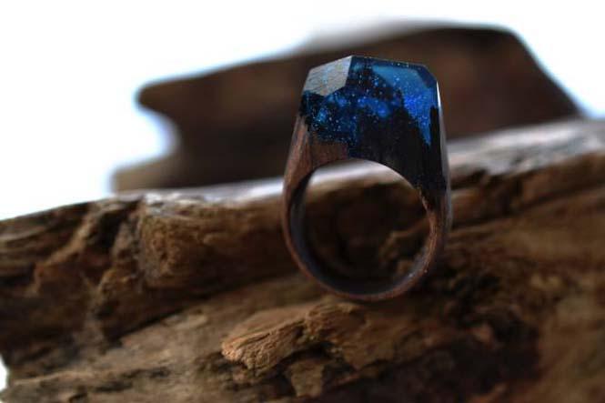 Εκπληκτικό ξύλινο δαχτυλίδι (2)