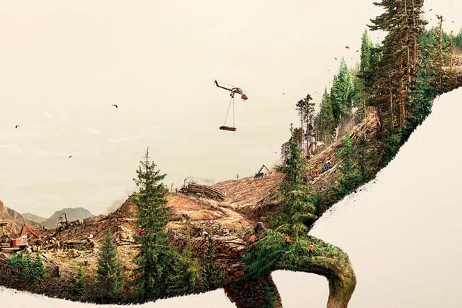 Καταστρέφοντας την φύση: Μια καμπάνια ευαισθητοποίησης με εικόνες διπλής έκθεσης (6)