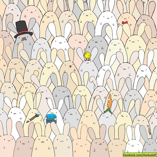 Μπορείτε να εντοπίσετε το αβγό ανάμεσα στα κουνελάκια; (1)