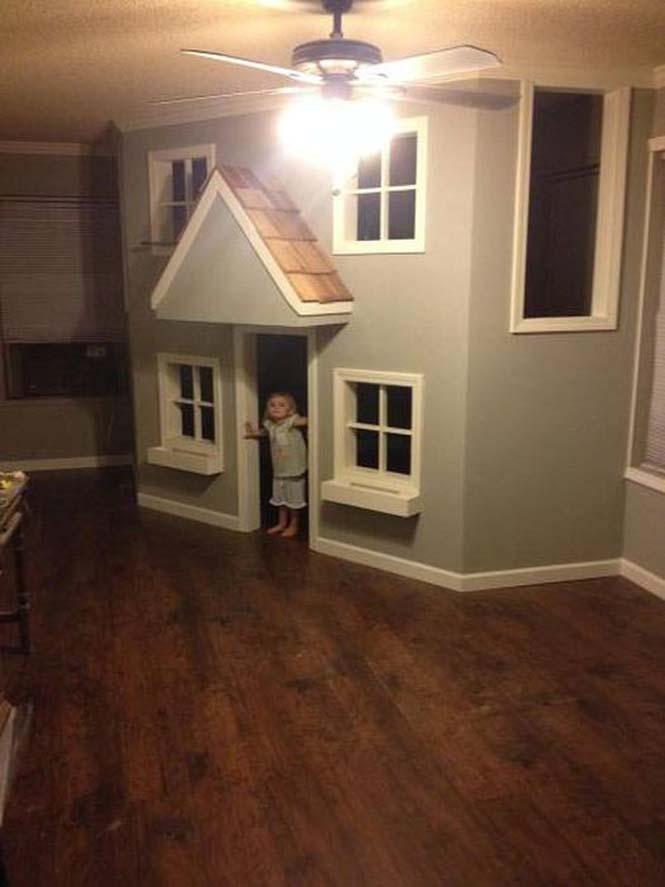 Πατέρας μετέτρεψε ένα ολόκληρο δωμάτιο για τα παιδιά του (14)
