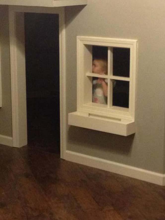 Πατέρας μετέτρεψε ένα ολόκληρο δωμάτιο για τα παιδιά του (15)