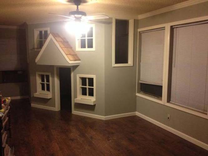 Πατέρας μετέτρεψε ένα ολόκληρο δωμάτιο για τα παιδιά του (16)