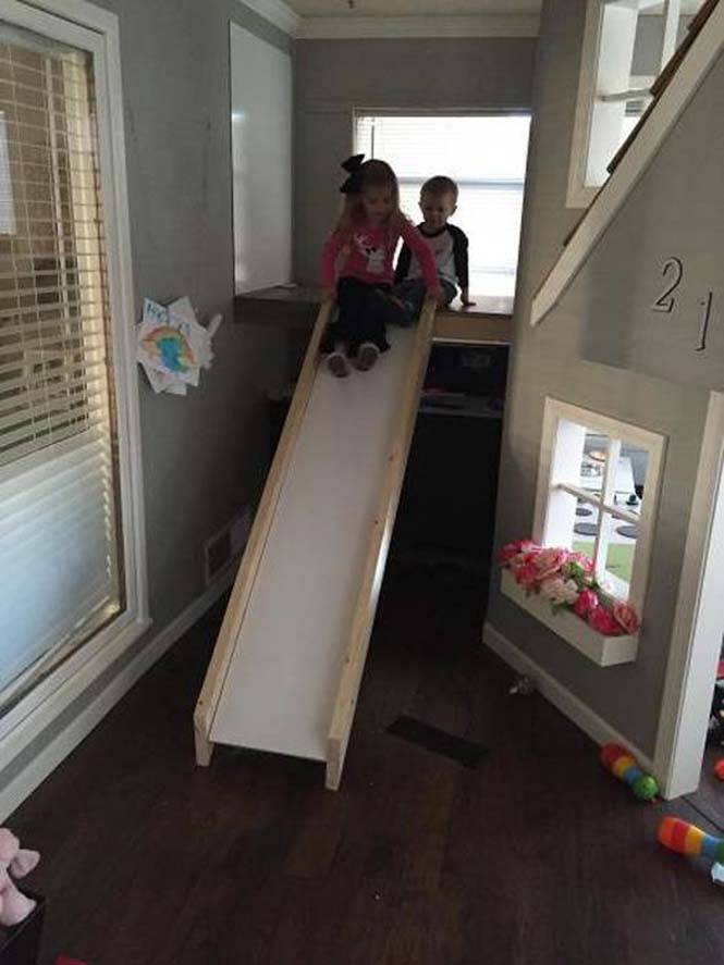 Πατέρας μετέτρεψε ένα ολόκληρο δωμάτιο για τα παιδιά του (23)