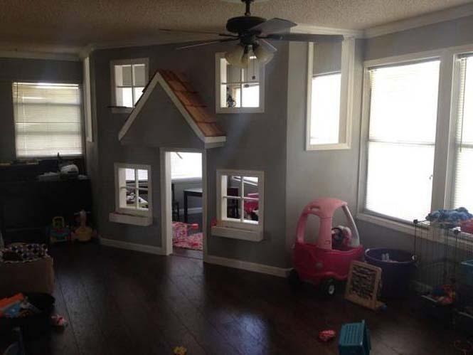 Πατέρας μετέτρεψε ένα ολόκληρο δωμάτιο για τα παιδιά του (24)