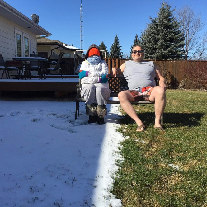 Η μετάβαση από τον Χειμώνα στην Άνοιξη δεν είναι πάντα ομαλή...   Φωτογραφία της ημέρας