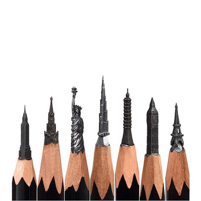 Διάσημα μνημεία και αξιοθέατα στη μύτη ενός μολυβιού | Φωτογραφία της ημέρας