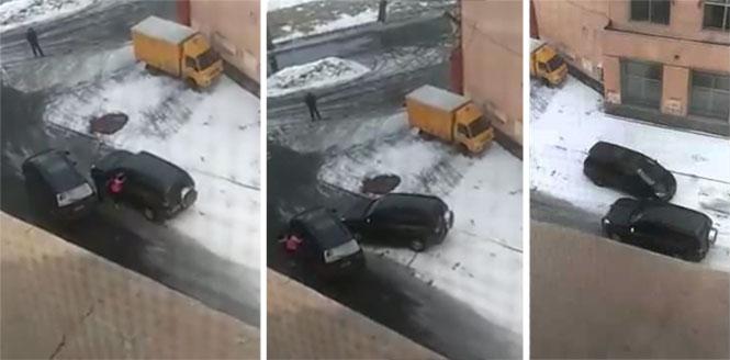 Δείτε πως έλυσαν τις διαφορές τους δυο γυναίκες οδηγοί στο Καζακστάν