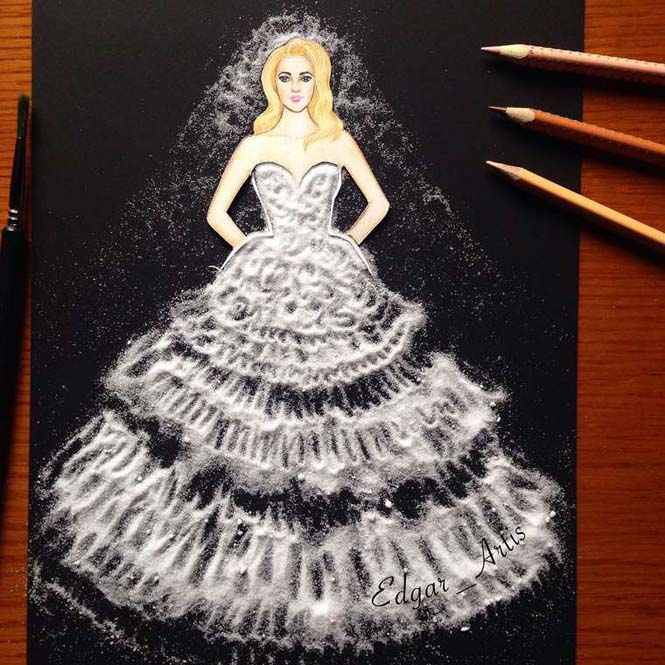 Σκιτσογράφος φαντάζεται δημιουργικά φορέματα από τρόφιμα (19)