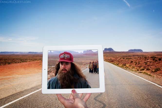 Ταξιδεύουν βγάζοντας φωτογραφίες σε τοποθεσίες διάσημων ταινιών (1)