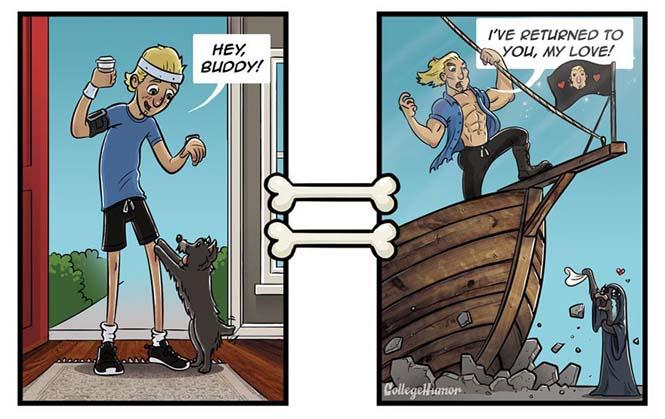Ξεκαρδιστικά σκίτσα για το πως βλέπουν οι σκύλοι τον κόσμο (7)