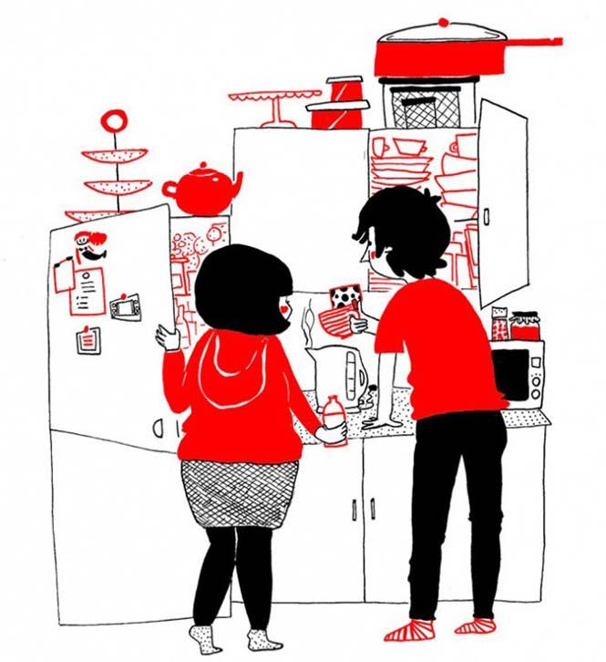 Μικρά καθημερινά πράγματα στα οποία κρύβεται η ευτυχία ενός ζευγαριού (12)