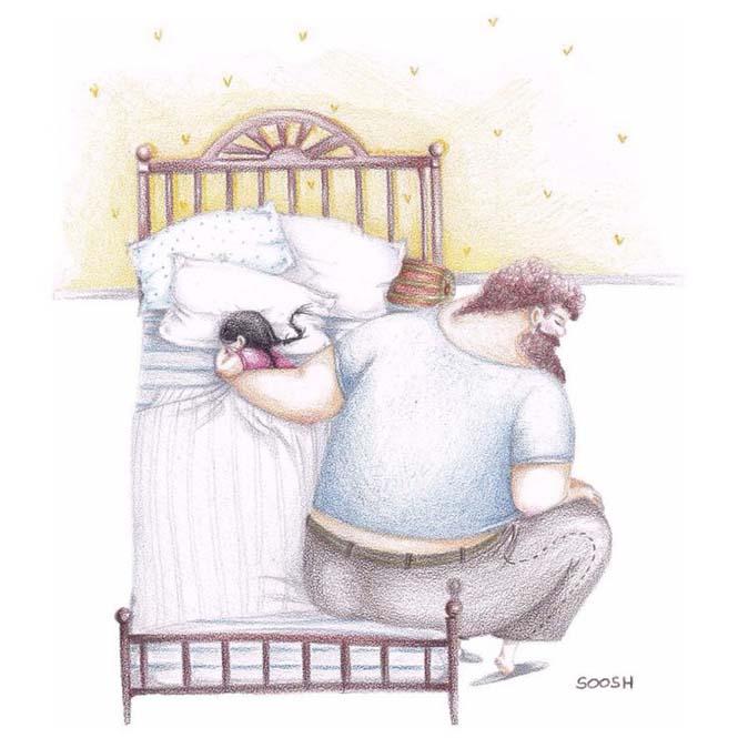 Η μοναδική σχέση πατέρα και κόρης μέσα από παραμυθένια σκίτσα (9)