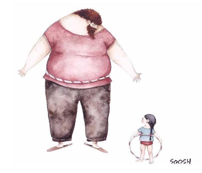 Η μοναδική σχέση πατέρα και κόρης μέσα από παραμυθένια σκίτσα (13)